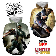 BLACK FRIDAY DEAL #6 - Captain America 2 Hoodies Bundle - Hoodielovers