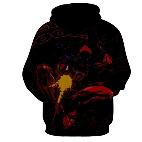 Deadpool Hoodie - Deadpool In Action Hoodie - Deadpool Jacket - Hoodielovers