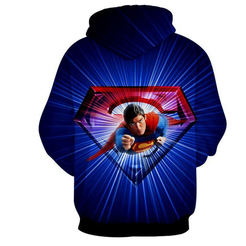 Flying Super Man 3D Hoodie - Hoodielovers