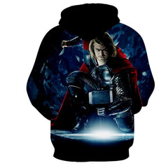 Thor Hoodies - 3D Printed Hoodie - Thor in Action