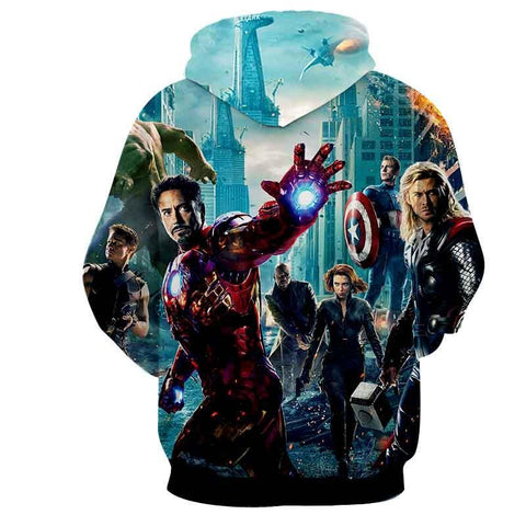 Avengers 3D Printed Hoodie  / Iron Man / Captain America / Wonder Women - Hoodielovers