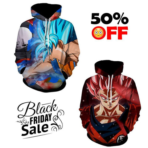 Black Friday Dragon ball Z Super Deal 15 | TWO In One 3D Hoodie Package - Hoodielovers