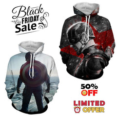 BLACK FRIDAY DEAL #7 - Captain America 2 Hoodies Bundle - Hoodielovers