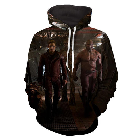 ‎Peter Quill-Drax-Rocket-Groot Hoodie - Guardian Of Galaxy Jacket - Hoodielovers