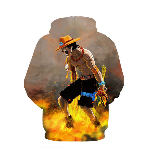Portgas D. Ace 3D Hoodie - Jacket - One Piece - Hoodielovers
