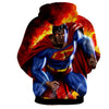 Image of Super Man On Fire 3D Hoodie - Hoodielovers