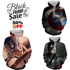 BLACK FRIDAY DEAL #9 - Captain America 3 Hoodies Bundle - Hoodielovers