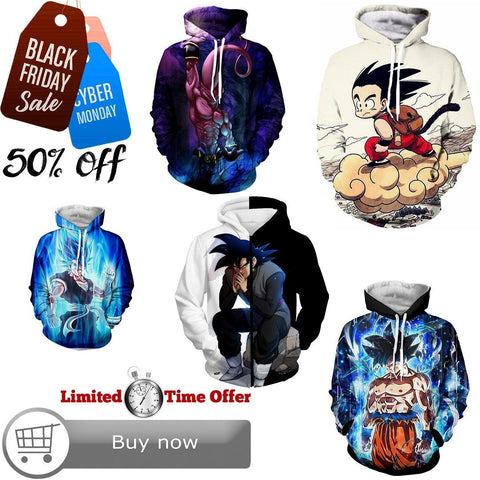 Black Friday / Cyber Monday Deal #27 | Dragon Ball Z | 5 Hoodies Bundle - Hoodielovers