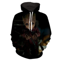 Baby Groot Hoodie - Guardian Of Galaxy Jacket - Hoodielovers