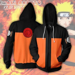 Naruto Hoodie - Naruto Uzumaki Zip Up Jacket - Hoodielovers