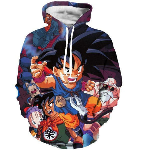 Dragon Ball Z Hoodie - Cute Kid Goku 3D Hoodies - Hoodielovers