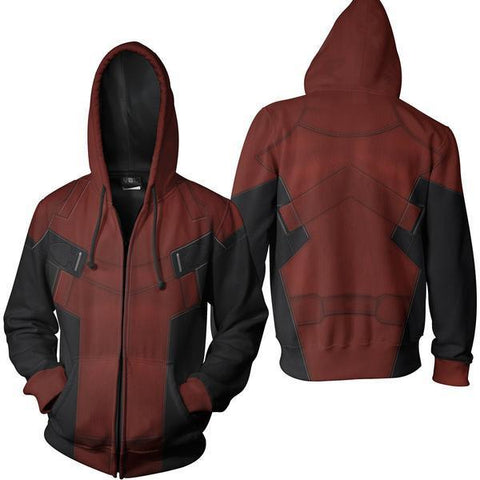 Deadpool Hoodie - Deadpool Zip Up - Deadpool Jacket - Hoodielovers