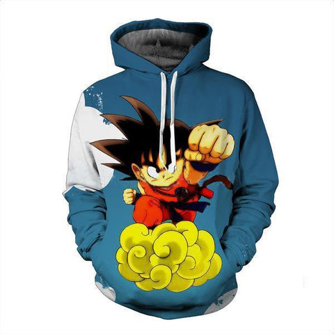 Goku On Nimbus 3D Hoodie - Hoodielovers