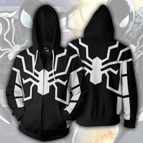 Spiderman Hoodie - Spiderman Future Foundation Zip Up - Hoodielovers