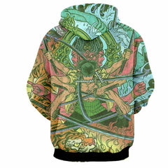 Zoro Swordsman Demon Ashura 3D Hoodie - One Piece