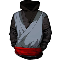 Dragon Ball Super Z Hoodie - Black Goku Armour 3D Hoodie - Hoodielovers