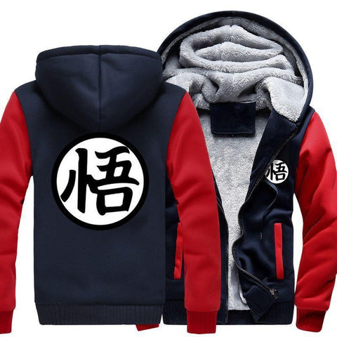 GOKU TRAINING SYMBOL - FLEECE ZIP-UP JACKET HOODIE - Hoodielovers