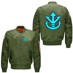 LUMINOUS SAIYAN CREST BOMBER JACKET