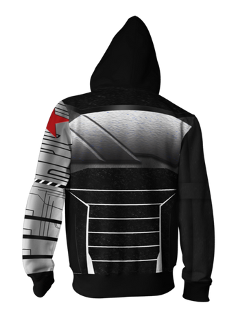 Marvel Winter Soldier Zip-up Hoodie - Latest 3D Winter Soldier Hoodie - Hoodielovers