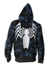 Image of Spider Man Venom Zip-up Hoodie - 3D Spider Man Hoodie - Hoodielovers