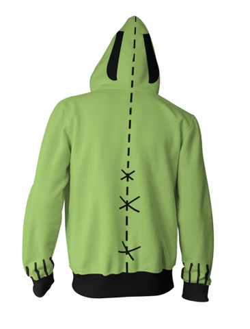 Invader Zim Hoodie - Zim Zip Up Jacket - Hoodielovers