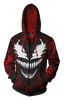 Image of Spider Man Venom Zip-up Hoodie - Latest 3D Spider Man Hoodie - Hoodielovers