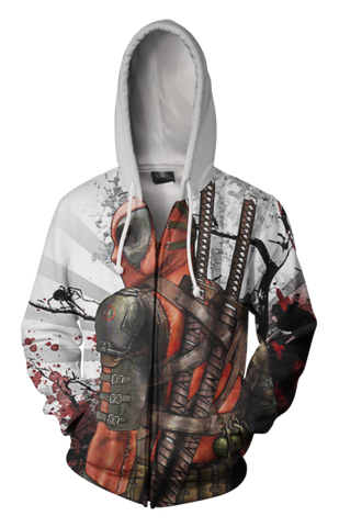 Dead Pool Action Hoodie - Dead Pool Zip Up Jacket - Hoodielovers