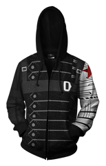 Marvel Winter Soldier Zip-up Hoodie - Latest 3D Winter Soldier Hoodie