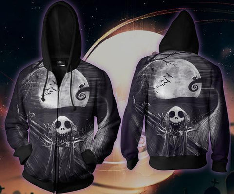 Night Mare  Zip-up Hoodie - 3D Hoodie - Hoodielovers