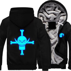 One Piece White Beard Pirate Jacket Hoodie