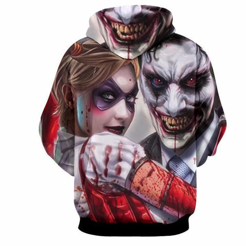 Joker and Harley Duo 3D Hoodie - Hoodielovers