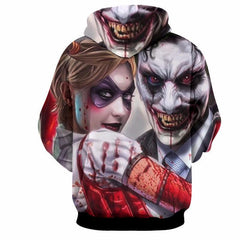 Joker and Harley Duo 3D Hoodie