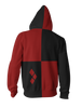 Image of Harley Quinn Hoodie - Comic Harley Quinn Zip Up Jacket - Hoodielovers