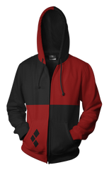 Harley Quinn Hoodie - Comic Harley Quinn Zip Up Jacket