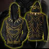 Image of Black Panther Costume Hoodie - Comic Black Panther Zip Up Jacket - Hoodielovers