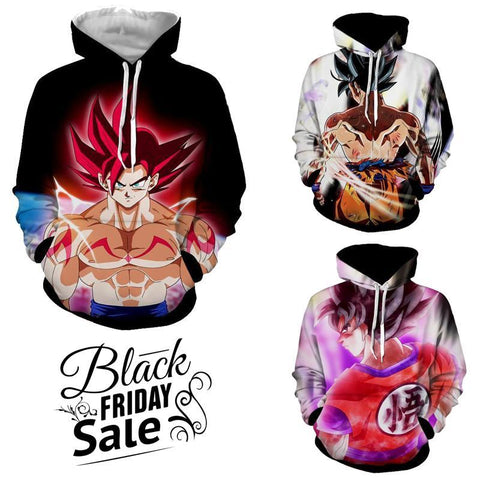 Black Friday Dragon ball Z Super Deal 4 | Three In One 3D Hoodie Package - Hoodielovers