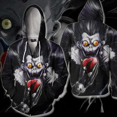 Death Note Ryuk Hoodie - Ryuk Zip Up Jacket - Hoodielovers