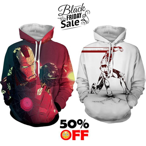 BLACK FRIDAY DEAL #29 - Iron Man 2 Hoodies Bundle - Hoodielovers