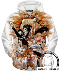 One piece Full Crew 3D Hoodies - One Piece Jacket - Hoodielovers