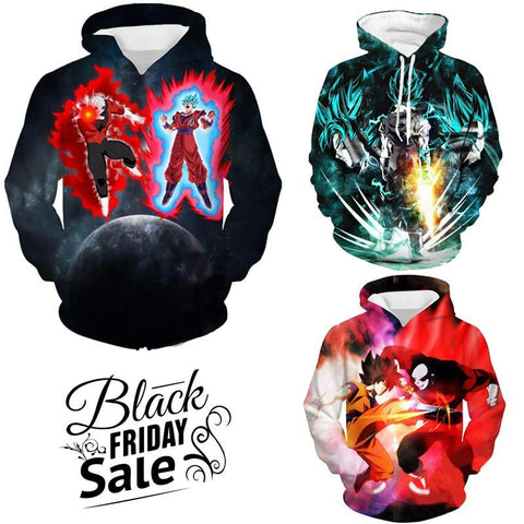 Black Friday Dragon ball Z Super Deal 6 | Three In One 3D Hoodie Package - Hoodielovers