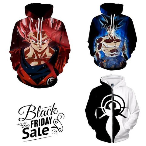 Black Friday Dragon ball Z Super Deal 7 | Three In One 3D Hoodie Package - Hoodielovers