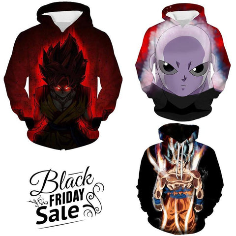 Black Friday Dragon ball Z Super Deal 9 | Three In One 3D Hoodie Package - Hoodielovers