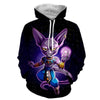 Image of Dragon Ball Super Hoodie - Chubbi Beerus Hoodie - Jacket - Hoodielovers