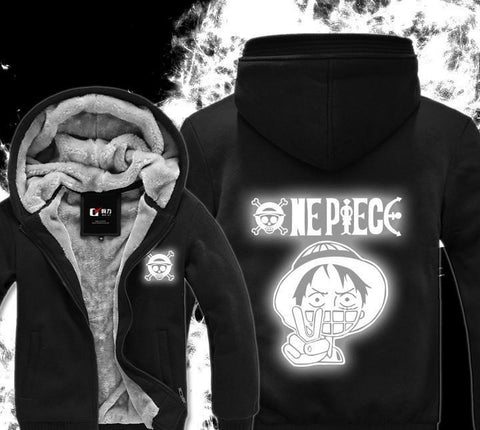 Luminous Fluorescence One Piece Hoodie - Winter Hoodies - Monkey D Luffy - Hoodielovers