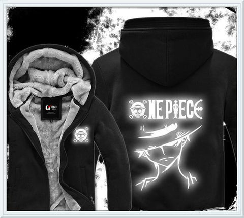 Luminous Fluorescence One Piece Hoodie - Winter Hoodies - Monkey D Luffy 2 - Hoodielovers