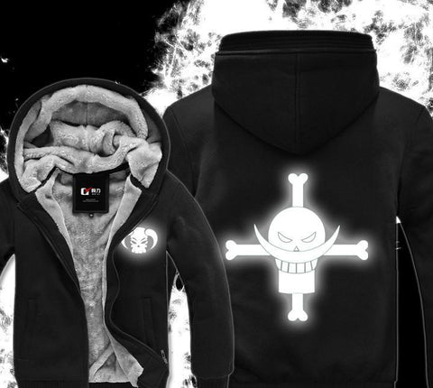 Luminous Fluorescence One Piece Hoodie - Winter Hoodies - White Beard Symbol - Hoodielovers