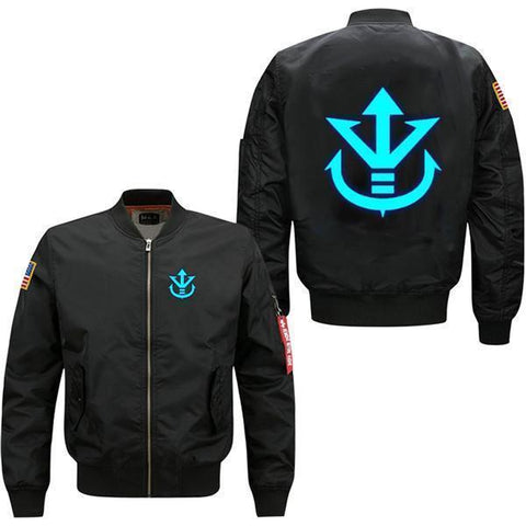 LUMINOUS SAIYAN CREST BOMBER JACKET - Hoodielovers