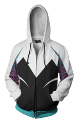 Spider Gwen Hoodie - Comic Spider Gwen Zip Up Jacket