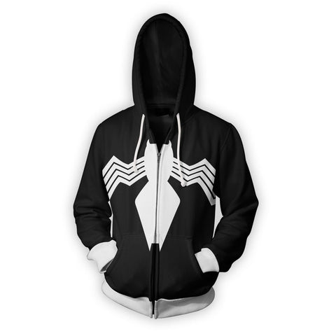 SYMBIOTE SPIDER-MAN - ZIP UP HOODIE - 3D HOODIE - Hoodielovers