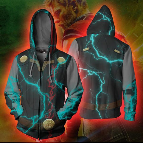 Thor Cosplay Zip Up Jacket - Thor Ragnarok Hoodie - Hoodielovers